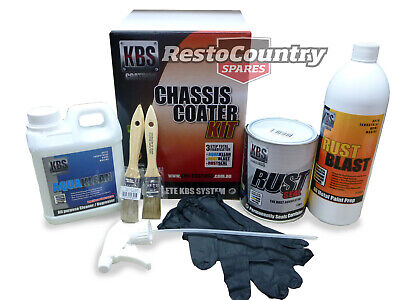 KBS Chassis Coater Kit SILVER Rust Corrosion Prevention Degreaser