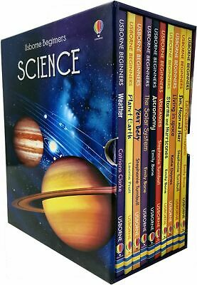 Usborne Beginners Series Science Collection 10 Books Box Set Sun Moon and Stars