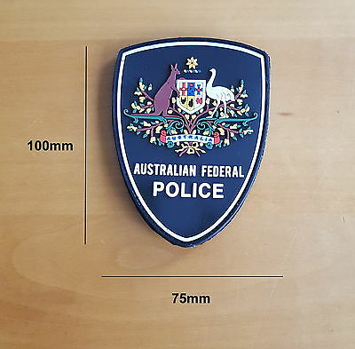 Australian Federal Police Floral Design Rubber Style Patch (social)