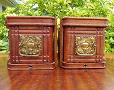 1892 Singer Treadle Sewing Machine Cabinet Drawers with Ornate Metal Pulls