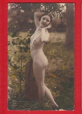 Glamour, Risqué nudes, Erotic French card, approx 1920's -PC Paris 2153