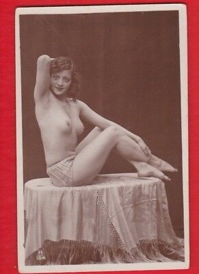 Glamour, Risqué nudes, Erotic French card, approx 1920's - R 184