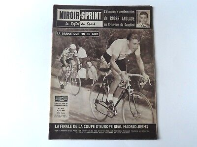 *Rare Vintage 1950s Miroir-Sprint - French Cycling Magazine - 8 June 1959*