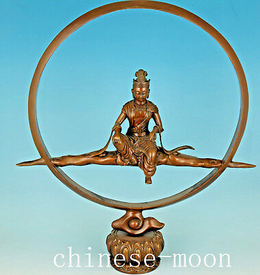 Feng shui beonze copper casting Kwan-yin Buddha Statue room home decoration