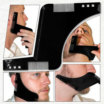 BEARD SHAPING TOOL - Template, Shaper, Stencil, Symmetry, Trimming, Comb .