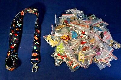 Disney World 25 Pin Trading Lot Lanyard Starter Set Toy Story Buzz Woody Slinky