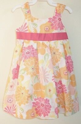 New Janie and Jack Summer Boardwalk Dress & Diaper Cover Girl's Sz 6-12 Month