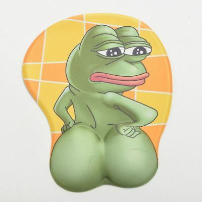 1pc  Anime Mouse Pad Props Frog 3D Ass Mouse Mat Sad frog Funny Sexy Soft