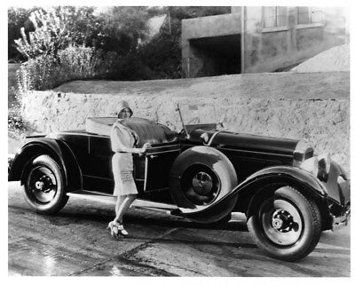1929 Packard 633 Runabout ORIGINAL Photo Negative Edna Murphy nad0241