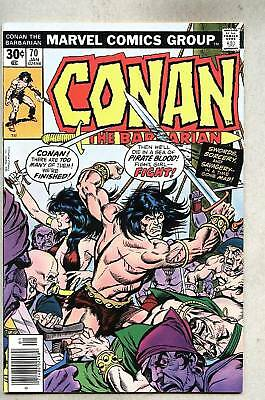 Conan The Barbarian #70-1977 fn+ John Buscema