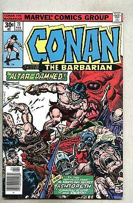 Conan The Barbarian #71-1977 fn+ John Buscema