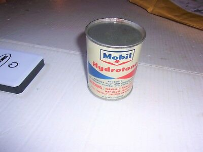 Very Nice Vintage Mobil Full Unopen Can of Mobil Hydrotone Advertising Can