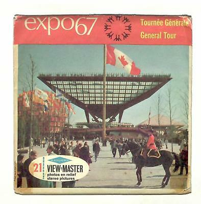 vintage SAWYERS view master EXPO 67 MONTREAL CANADA reel set WORLDS FAIR travel!