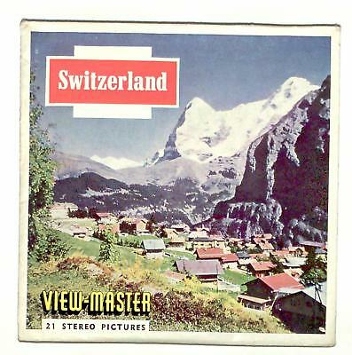 FOREIGN vintage SAWYERS view master SWITZERLAND reel set ZURICH europe ALPINE !!