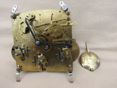 Vintage Perivale Westminster Chime Mantel Clock Movement, Hands And Pendulum