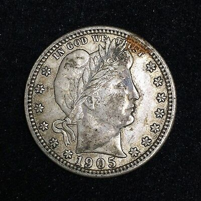 1905-S 25C Barber Quarter Dollar