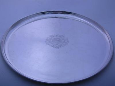 "Sterling KALO 15"" Round Tray ARTS & CRAFTS Hand Wrought CHICAGO ~ 44.30 troy oz"