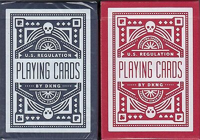 Wheel Playing Cards 2 Deck Set Poker Size Blue Red USPCC DKNG Custom Limited New