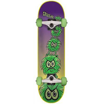 Creature Creeps Mini Complete Skateboard - Purple/Green 7""