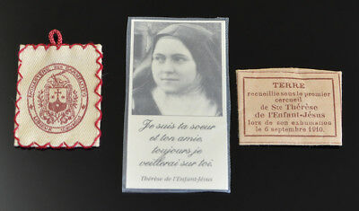 ANTIQUE & VINTAGE Lot of 3 ST. THERESE FRENCH POCKET Relics Relic NR