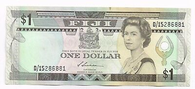 1987 FIJI ONE DOLLAR NOTE - p86a