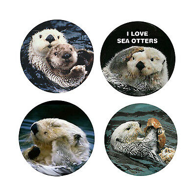Sea Otter Magnets-A:  4 Charming Sea Otters 4 your home or collection-Great Gift
