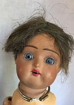 ANTIQUE  MULATTO PORCELAIN DOLL for Parts or Repair