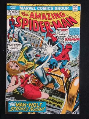 Amazing Spider-Man #125 MARVEL 1973 - NEAR MINT 9.8 NM - ORIGIN of Man-Wolf!!!
