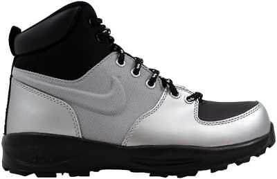 buy cheap 0d9a2 cc184 Nike Manoa Leather Metallic SilverBlack-Black 472648-020 Grade-School SZ