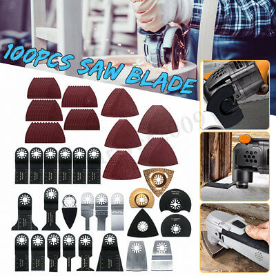 100PCS Oscillating Multi Tool DIY Saw Blade Accessories Kit For Fein Multimaster