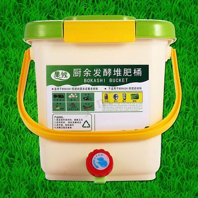 12L Kitchen Food Waste Recycle Composter Aerated Compost Bin Bokashi Bucket