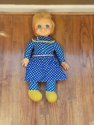 Vintage 1967 Family Affair Mrs Beasley Doll with Apron Does Not Talk