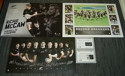 New Zealand All Blacks Rugby Union Mccaw Retirement Record Breakers Prints Pack