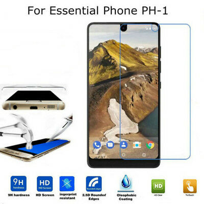 2x 9H+ For Essential Phone PH-1 Ultra Slim Tempered Glass Screen Protector Cover