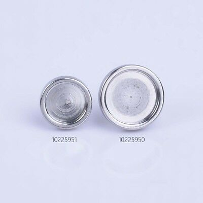 316L Stainless Steel earring Round Bezel Cup Cabochon Settings accessories 10pcs