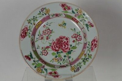 Beautiful Antique Chinese Hand-painted Famille Rose Plate