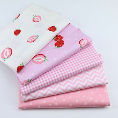 One PCS Cotton Fabric Pre-Cut Cotton cloth Fabric for Sewing Strawberry