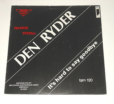 "Den Ryder - 12"" Maxi - It's Hard To Say Goodbye - DE 1987 - United Music 45.5503"