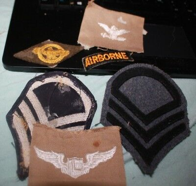 US Army Original WWII Shoulder Patch Miscellaneous lot airborne tab