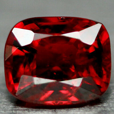 0.94 Ct Natural! Silver Red North Of Thailand Spinel Cushion