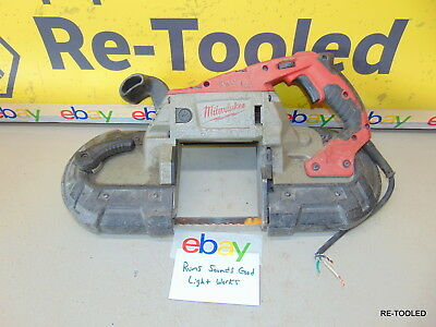 Milwaukee Deep Cut Portable Variable Speed Band Saw 6232-20 Electric Tool Saw