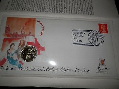 Numisbrief England, Bill of Rights 2 Pounds Coin