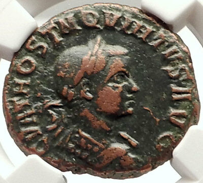 HOSTILIAN Authentic Ancient 251AD Viminacium RARE Ancient Roman Coin NGC i69336