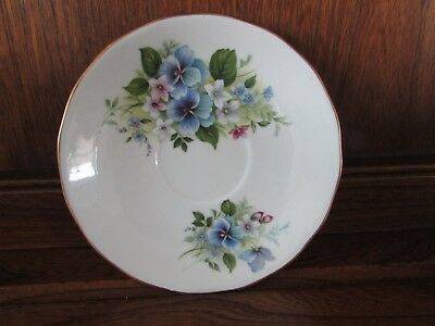 Vintage Royal Vale English China~Pansy~1X14cms Tea Cup Saucer