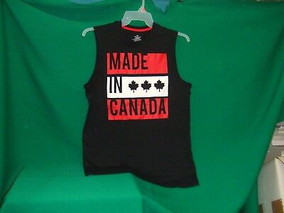 Made In Canada Man T Shirt Size L/G  Black  by George