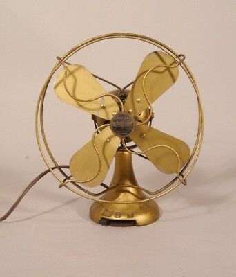 Antique Small Gold NORTHWIND Type 44C Electric Fan ORIGINAL PAINT