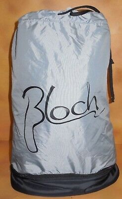NWT Bloch A67 Dance Compartment Bag Grey w/ Black Logo Cinch Tie Top