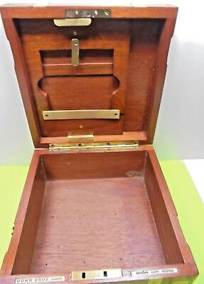 ANTIQUE OLD VINTAGE DOWN BROS OPP GUY'S HOSPITAL tropical MEDICAL INSTRUMENT BOX