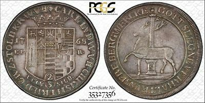 1768-EFR German States Stolberg 2/3 Thaler PCGS XF45 Lot#G865 Silver!
