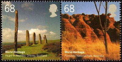GREAT BRITAIN - 2005 - World Heritage - MNH Se-Tenant -  Joint Issue - #2286-87